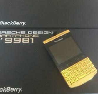 بلاك بيري بورش الذهب والفضة والأسود تصميم P9981،